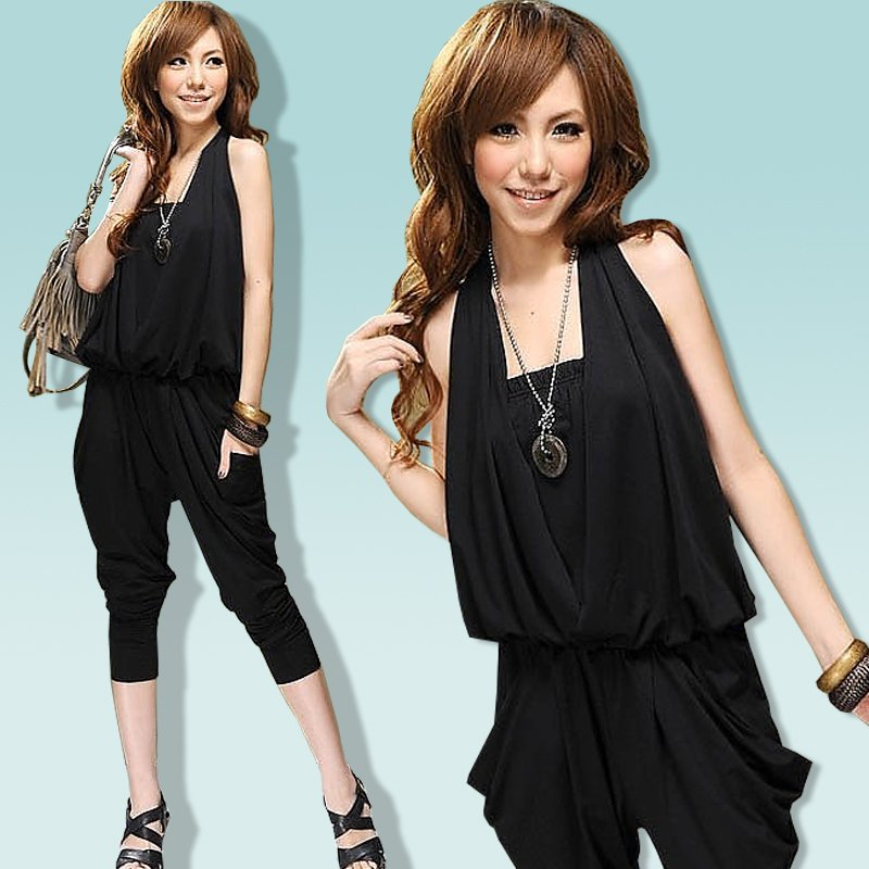 2012 harem pants jumpsuit capris summer women's jumpsuit plus size jumpsuit C033