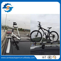 New Design Universal silver color aluminium car roof bike rack bicycle carrier