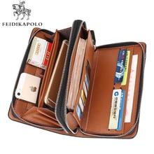 Business Männer Brieftasche Langen Designer Doppel-reißverschluss Leder Männliche Handtasche Marke Mens Kupplung Handliche Tasche Luxus Brieftaschen carteira Masculina