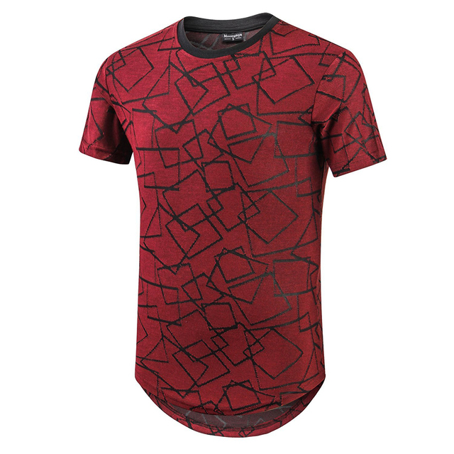 48d11baa5c536 Men s Stylish Ripped Hipster Hip Hop T Shirt Short Sleeve Jacquard Knitted  Round Hem T-Shirts For Men Skinny Streetwear Tops Tee