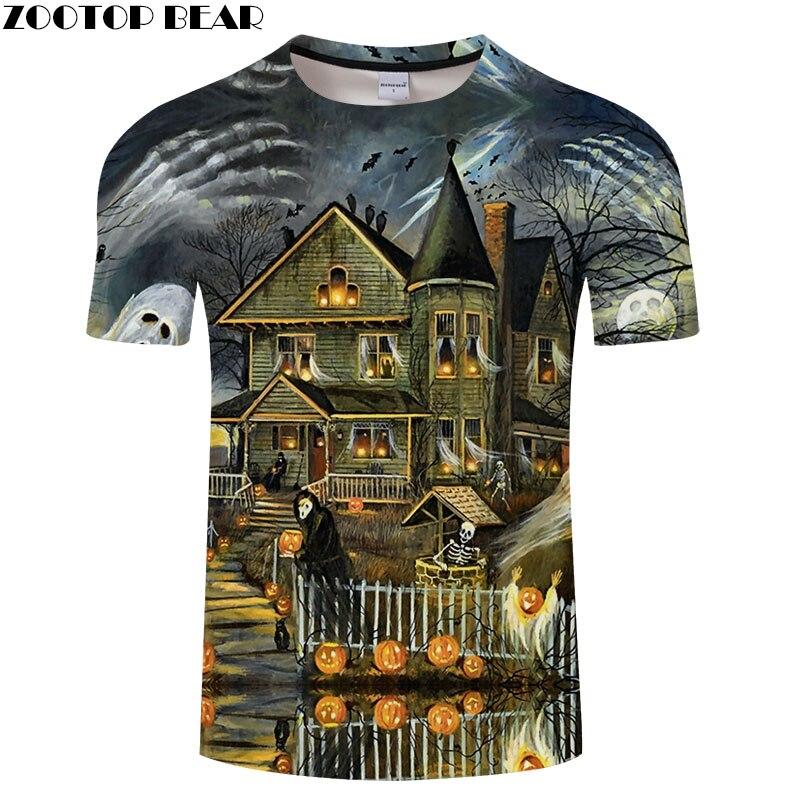 ZOOTOP BEAR Skull tshirt Men t shirt Brand Tops Tees Mens t-shirt Short Sleeve Camiseta Harajuku Shirts Mens Clothing Drop Ship