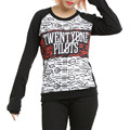 21 Twenty One Pilots Sublimation Print Winter Cashmere Blend Sweatshirt O-Neck Pullovers Long-Sleeve Womens Knitted Top S-XXL