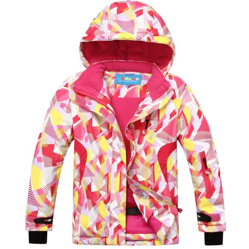 Hot Sale Winter Children Girls Outdoor Sport Waterproof Windbreaker Ski Snow Jacket Hooded Snowboard Skiing Coat Kids 6-16 Years 2017 hot sale gsou snow high quality womens skiing coats 10k waterproof snowboard clothes winter snow jackets outdoor costume