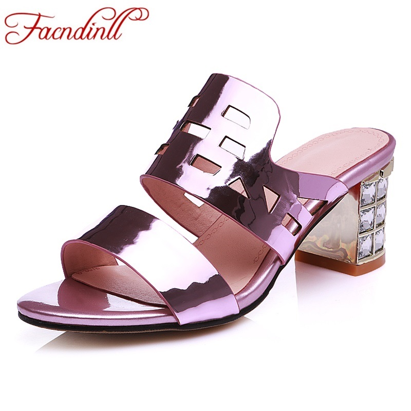 ФОТО 2017 new fashion summer shoes woman sandals genuien leather high heels peep toe summer slides casual shoes for women size 33-45