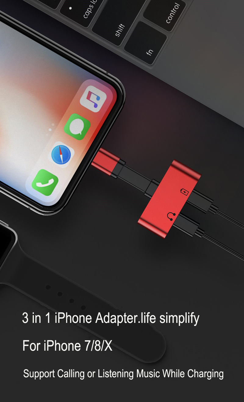 allvcover iphone x adapter iphone 7 adapter iphone 8 adapter  (17)