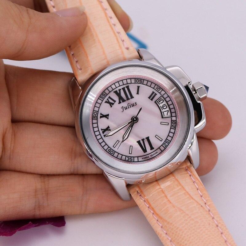 Top Julius Lady ženske 5 boja Auto Datum ručni sat Elegantan Shell - Ženske satove - Foto 2