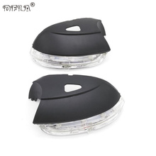 For VW Golf 6 MK6 2009 2010 2011 2012 2013 Car-Stying Rear Mirror LED Turn Signal Indicator Light Lamp With Holes