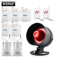 цена KERUI Cheap Wireless Burglar Alarm System Local Siren Speaker Security Home Alarm Motion Detector Window Door Sensor DIY Kit онлайн в 2017 году