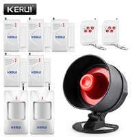 KERUI pas cher système d'alarme antivol sans fil sirène locale haut-parleur sécurité maison alarme détecteur de mouvement fenêtre porte capteur kit de bricolage