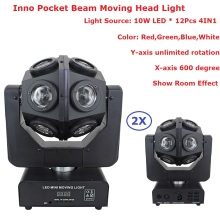 Hot Sell American Dj Light 2in1 RGBW 12x10w LED Moving Head DMX512 Beam stage lights KTV disco dj wedding party lamps