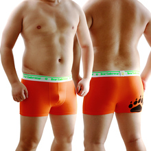f9d39115d03 Men s Plus Size Sexy Shorts Bear Claw Bear Paw Underwear High Waist Boxers  Designed For Gay