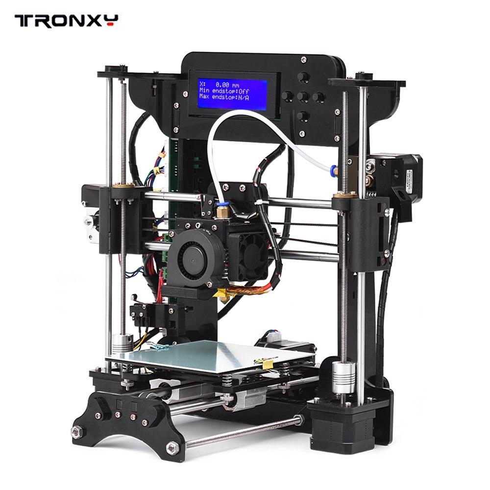 TRONXY imprimante 3D cadre acrylique MK10 taille de l'extrudeuse 120*140*130mm 8 GB carte SD Support ABS/PLA/TPU/Filament de bois pour débutant
