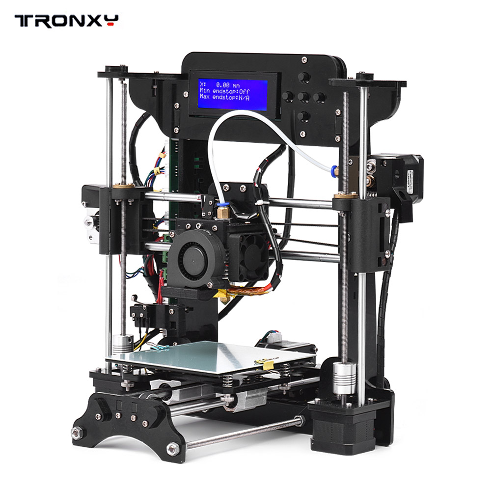 TRONXY 3D Printer Acrylic Frame MK10 extruder Size 120 * 140 * 130mm 8GB SD card Support ABS/PLA/TPU/Wood Filament for Beginner tronxy 1 75mm pla filament for 3d printer