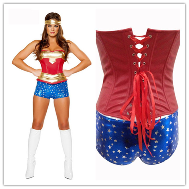 Superwoman and wonder woman costumes-1239