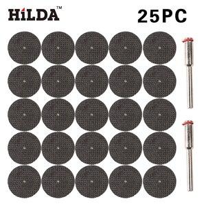 HILDA 25pcs Cut Off Wheel Disc Fiberglass Reinforced with 2 Mandrel 1/8