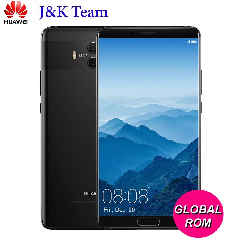 """Глобальной прошивки Huawei Коврики 10 Android 8.0 3D изогнутые Стекло двойной Камера 20MP 5.9 """"2560*1440 смартфон Kirin970 octacore 2.36 ГГц"""