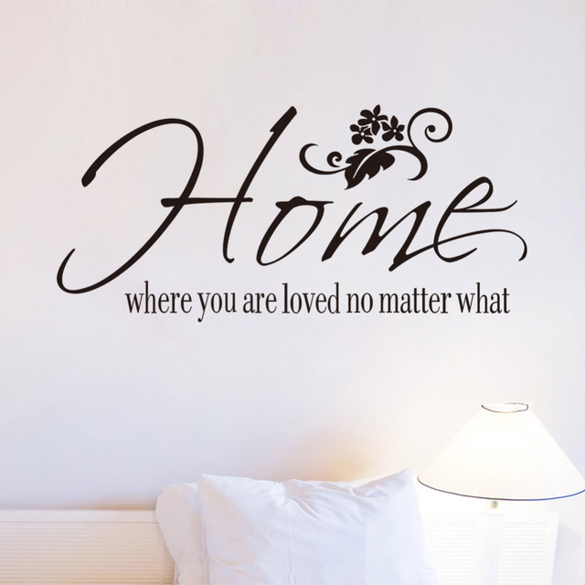 Free shipping wall art decals quotes home where you are loved no matter what decoration vinyl