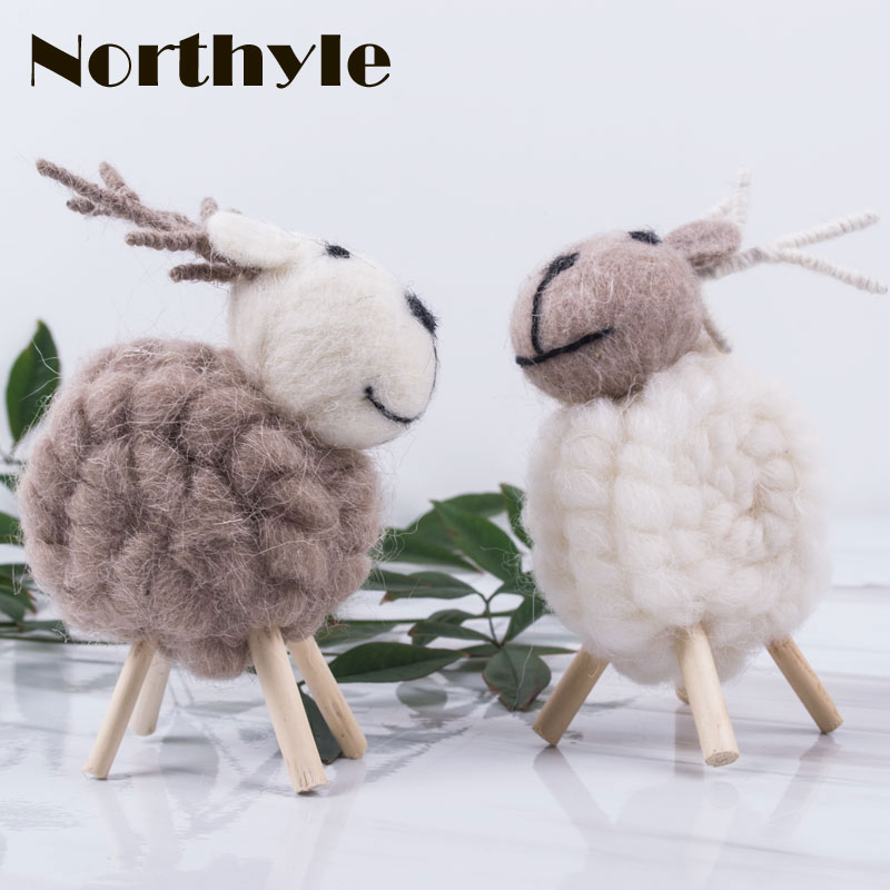 House, Wool, Kawaii, Xmas, Goat, Decoration