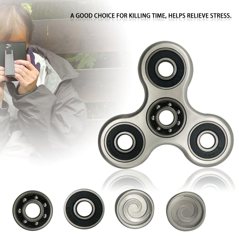 Spinner Aluminum Fidget Finger Spin Stress Hand Desk EDC ADHD Autism Adults Gift