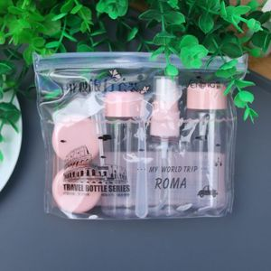 Image 2 - 7pcs/Set Travel Mini Makeup Cosmetic Face Cream Pot Bottles Plastic Transparent Empty Eyeshadow Make Up Container Bottle