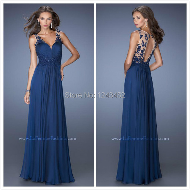 Chaussures pour robe longue bleu marine