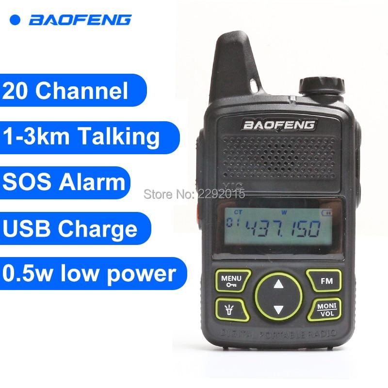 Baofeng T1 Walkie Talkie BF-T1 Two Way Radio mini Portatile Ham FM Radio CB Ricetrasmettitore Portatile Per Il Ristorante Dell'hotel Barbiere