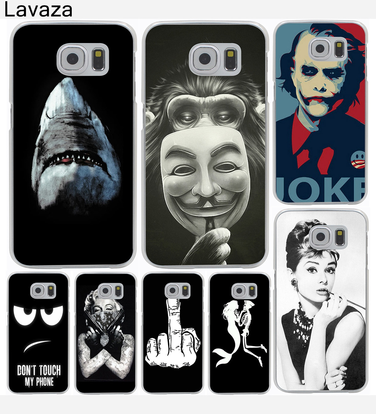 Lavaza Classic Audrey Hepburn Joke Shark Hard Phone Cover Case for Samsung Galaxy S9 S6 S7 Edge S8 Plus S3 S4 S5 & Mini Case