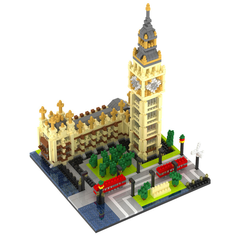 1641pcs Building Block Big Ben Famous ArchitectureCompatible Toy Brick Plastic Compatible LegoINGLYS City Technic Toys for kid loz mini diamond block world famous architecture financial center swfc shangha china city nanoblock model brick educational toys