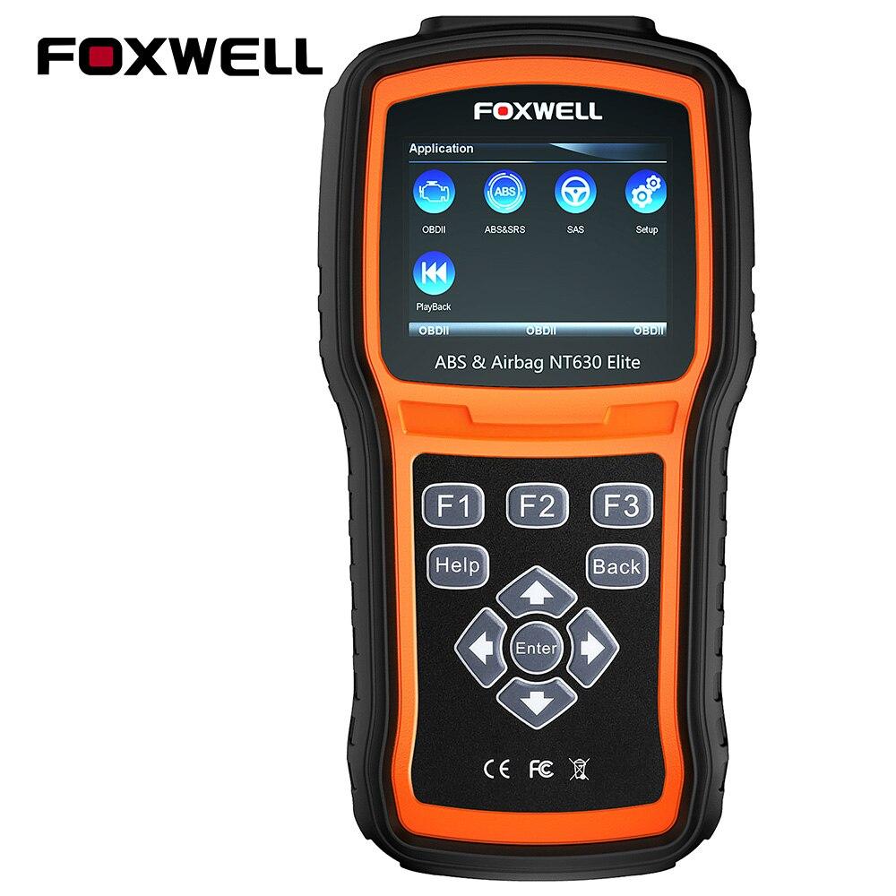 FOXWELL NT630 Elite OBD2 Scanner ABS SAS Airbag Crash Daten Reset Auto Diagnose Werkzeug ODB2 Automotive Scanner