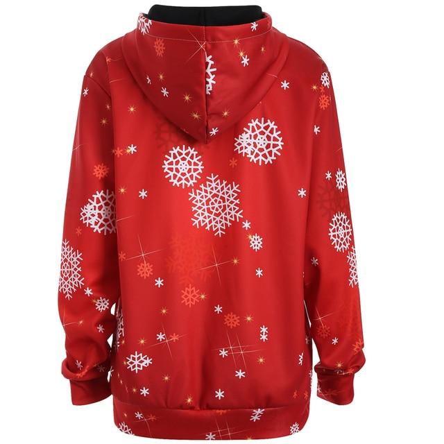 Christmas snowman 3d Print Hooded Plus Size Sweatshirt Kangaroo Pocket Hoodie Long Sleeve lagenlook voguees Trend New year Tops 1
