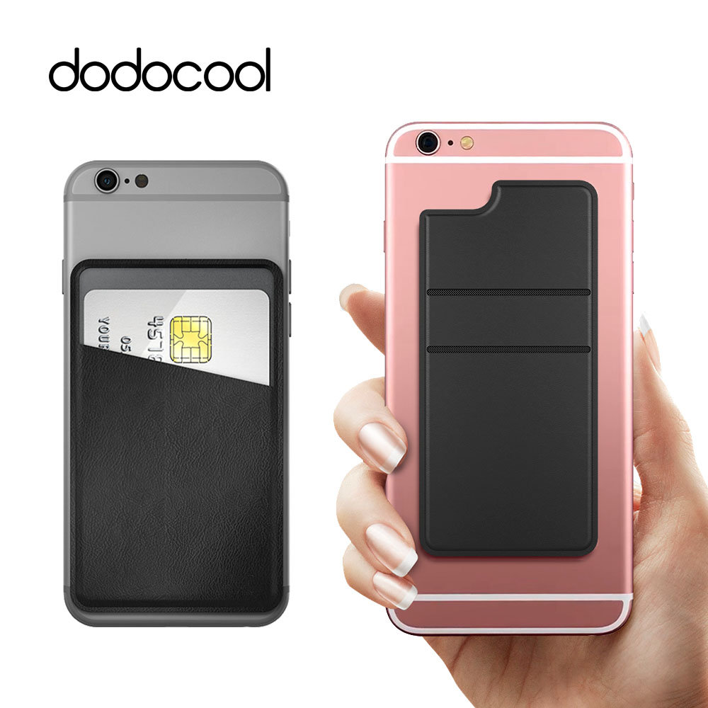 dodocool Ultra-slim Self Adhesive Credit Card Holder Stick-on Wallet 1 or 2 Slot for iPhone 7 6 Plus 4.7