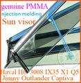 Jimny Highlander Captiva IX35 Q5 H6 Haval X1 deflector visera de la ventana, 4 unids/set, PMMA material, con tira de cromo