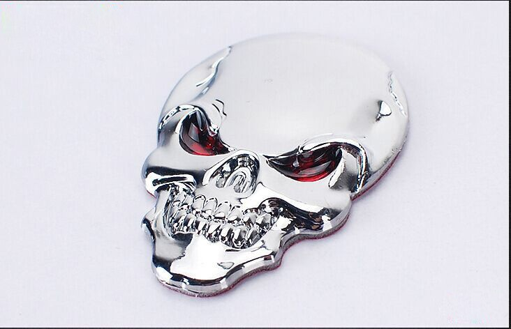 DSYCAR 3D Metal Skull Car Sticker Logo Emblem Badge Decals Car Styling for Fiat Bmw Ford Lada Audi opel volvo Honda Toyota Benz 15