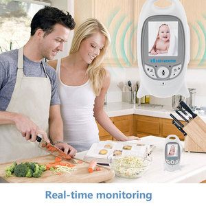 Image 4 - Babyphone vidéo sans fil, avec caméra de sécurité, vision nocturne, audio, 2 voies, moniteur de température, avec 8 berceuses