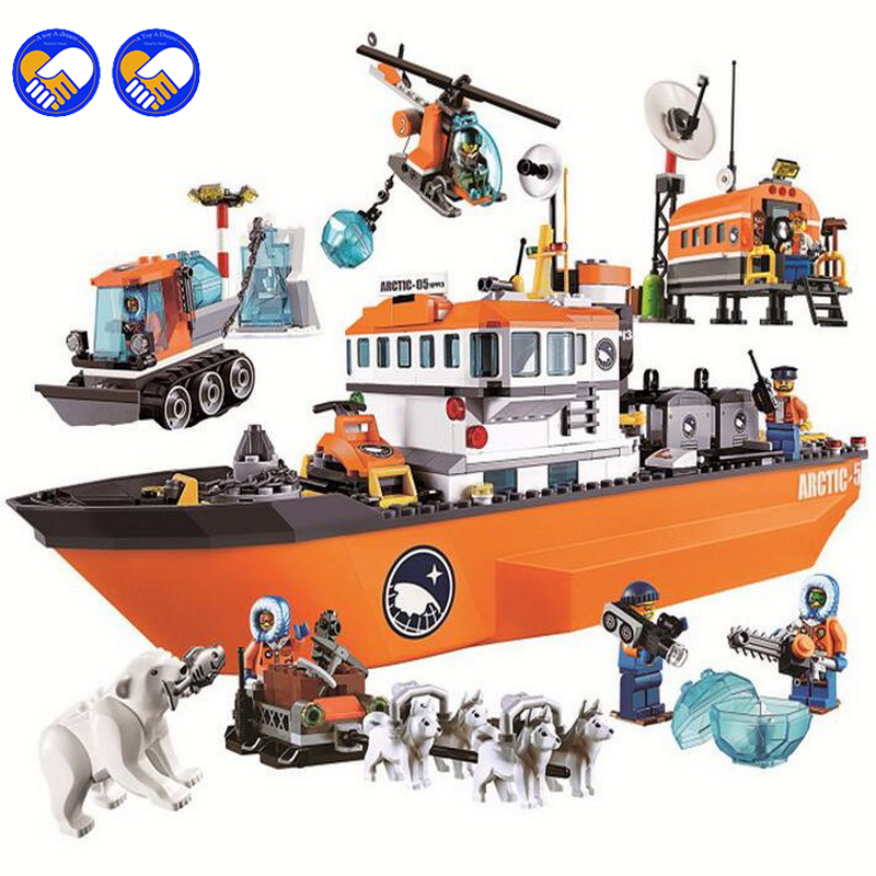 A toy A dream Bela 10443 City Arctic Icebreaker Blocks Brick Toys Set Boy Game Team Castle Compatible with Lepin 60062 bela 10443 city arctic icebreaker building bricks blocks toys for children game team castle compatible with decool lepin 0062
