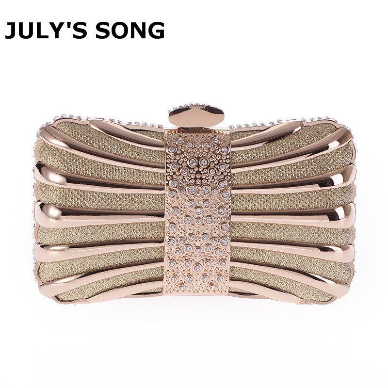Luxurious Women Clutch Bags Metal Diamonds Chain Shoulder Evening Bags Lady Dress Wedding Dinner Party Handbags female banquet clutch ladies shoulder messenger bags chain women wedding party dinner bags lady diamond clutch bag bolsa gold