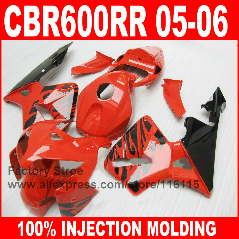 Custom paint 100% Injection mold motorcycle parts for HONDA 2005 2006 CBR 600RR 05 06 CBR600RR fairings red black fairing kits