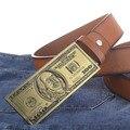 EE.UU. dólar hebilla PU correa de cuero grandes grandes cinturones de cuero hebilla cinturones de hombre nuevo estilo de moda 5247