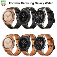 Newest Genuine Leather Handmade Fish Bone Line Series Watch Band Strap For Samsung Galaxy Watch Band 42mm 46mm S3 S2 Gear Sport