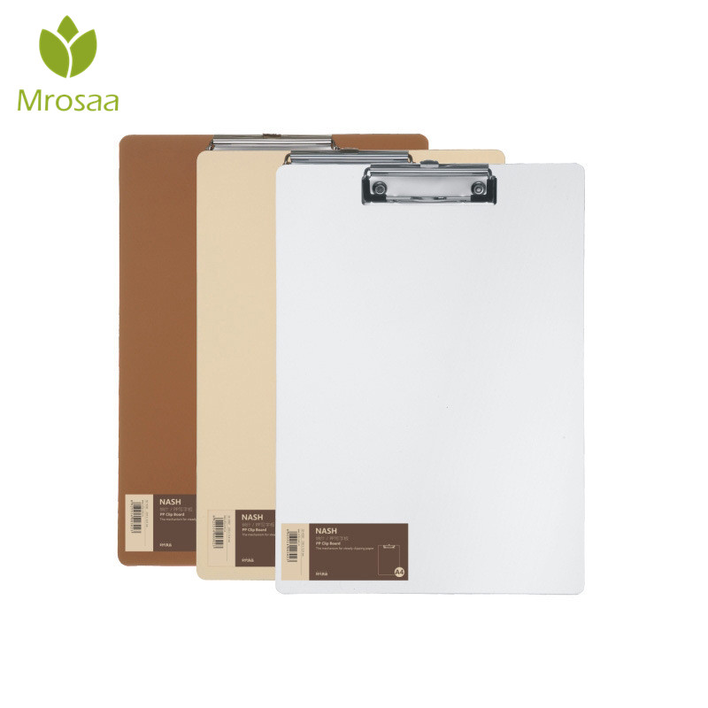 A4 size PP clipboard file Folder stationary board hard board Tablet holder paper Writing plate clip report office supplies