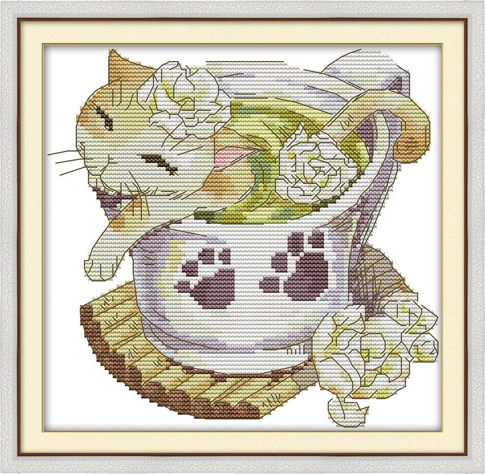 Lijepih mačaka prebrojani križevi setovi DMC žigosani križić - Umjetnost, obrt i šivanje - Foto 5