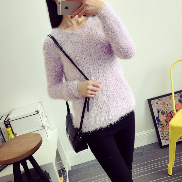 Mohair O-Neck Sweaters 1