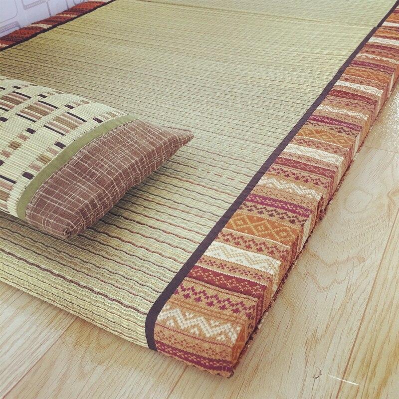Tapis pliant en Tatami de paille Rectangle tapis de grande taille tapis Judo japonais Futon Tatami tapis pliable en paille pour dormir - 5