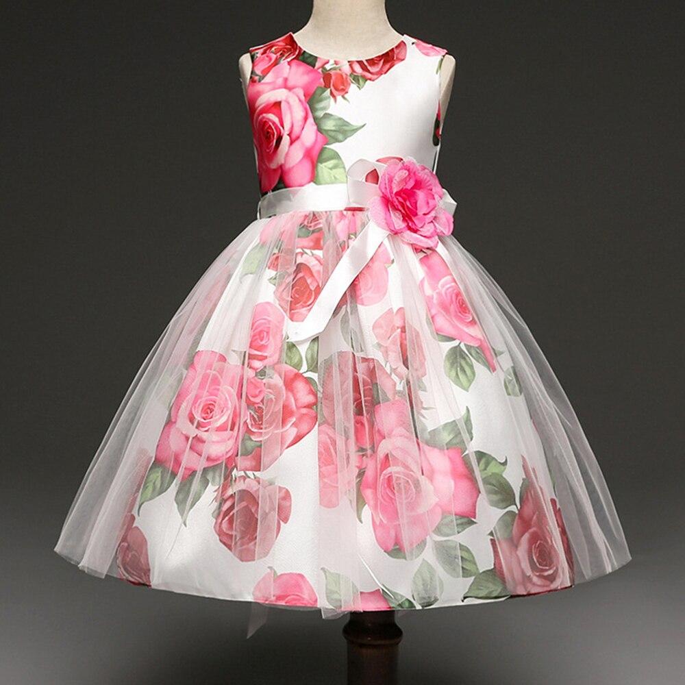 AmzBarley/кружевное платье пачка с цветочным узором платье принцессы для маленьких девочек классическое бальное платье Детская праздничная од