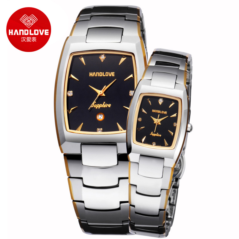 Gold Plated Tungsten Simple stylish Wrist Watches Waterproof Fashion Watch H1 6505