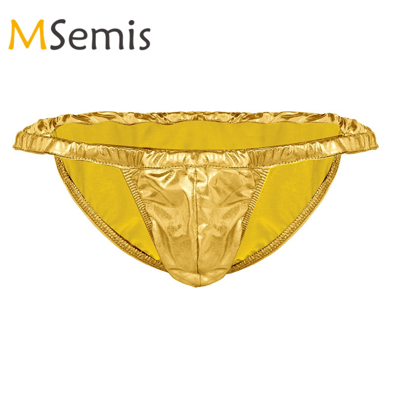 MSemis Mens Latex <font><b>Sissy</b></font> Rubber Briefs <font><b>Sexy</b></font> Lingerie <font><b>Gay</b></font> <font><b>Underwear</b></font> Shiny Spandex <font><b>Panties</b></font> Mens Loose <font><b>Panties</b></font> Bedtime Swim Beach image