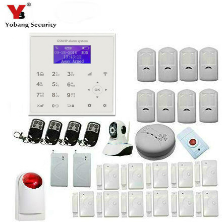 YobangSecurity Wifi Wireless GSM GPRS Home Business Security Alarm System with Auto Dial Motion Detectors IP Camera Siren yobangsecurity gsm wifi gprs wireless home business security alarm system with wireless ip camera smoke fire dual motion sensor