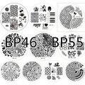 10 шт. Born pretty 46 - 55 ногтей штамп шаблон изображения пластины # 18800