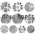 10pcs BORN PRETTY 46- 55 Nail Art Stamp Template Image Plates #18800