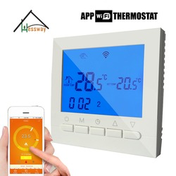 Mobile control boiler, valve,Electric actuator smart heating thermostat wifi for Underfloor Warm System